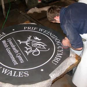 Сланцевая табличка с гравировкой - Камень Welsh Slate Великобритания