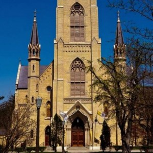 The Basilica of the Sacred Heart, Notre Dame University Notre Dame, IN - Welsh Slate Purple