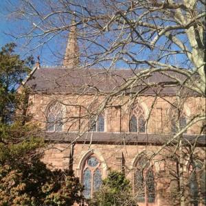 St Mary's Church Newport, RI - Welsh Slate Purple