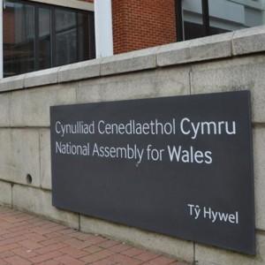 Выгравировано на сланцевой плите ... А как по другому, если это Ассамблея Уэльса!