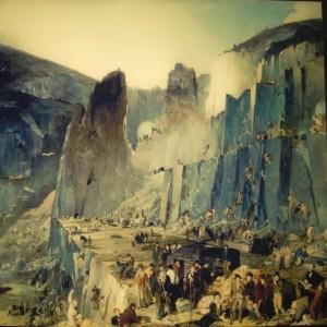 Сланцевый карьер Пенрин, картина написана в 1832 году