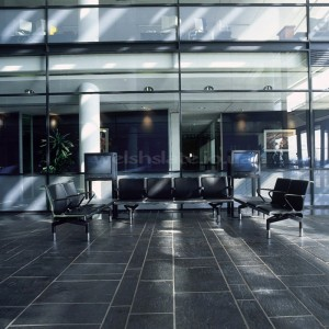 World Business Centre, Heathrow Airport - Welsh Slate Dark Blue Grey floor tiles