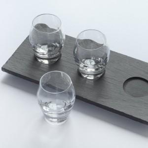Сланцевая сервировочная тарелка с выемками под рюмки - Коллекция Welsh Slate Slateware Fine