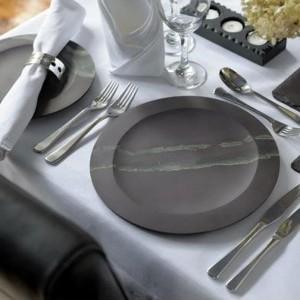 Английская тарелка - Полированный натуральный камень, сланец Welsh Slate Slateware Honed