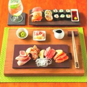 Набор профессиональной английской сланцевой посуды Welsh Slate Slateware для суши баров, ресторанов